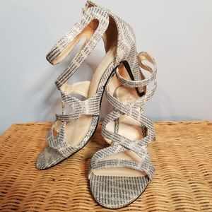 Kelly & Katie Strappy Gold & Silver Heels …